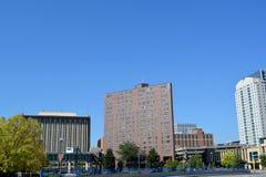 Skyline von Rochester Minnesota Stockbild