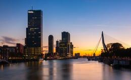 Skyline von Rotterdam Stockbild