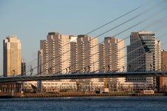 Skyline von Rotterdam, die Niederlande Lizenzfreie Stockfotos