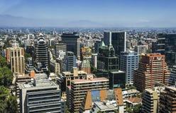 Skyline von Santiago Lizenzfreies Stockbild