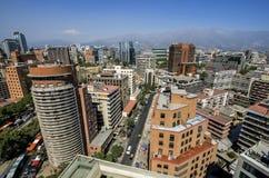 Skyline von Santiago Stockfoto