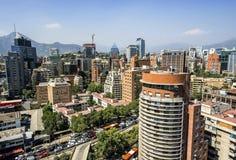 Skyline von Santiago Lizenzfreie Stockfotos