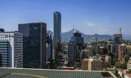 Skyline von Santiago Lizenzfreie Stockbilder