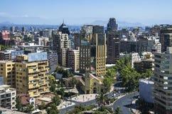 Skyline von Santiago Stockfotografie