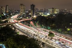Skyline von Sao-Paulo stockbilder
