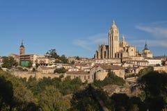 Skyline von Segovia Lizenzfreies Stockfoto