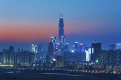 Skyline von Shenzhen Stockbild
