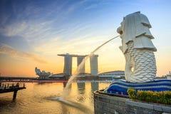 Skyline von Singapur Lizenzfreie Stockfotos