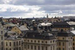 Skyline von Stockholm-Stadt Stockfoto