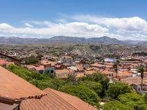 Skyline von Sucre, Bolivien stockfotos
