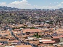 Skyline von Sucre, Bolivien stockfoto