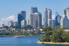 Skyline von Sydney CBD in der Tageszeit lizenzfreies stockbild