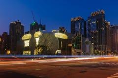 Skyline von Taichungs-Stadt, Taiwan stockfotografie