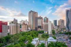 Skyline von Taichungs-Stadt, Taiwan stockbilder