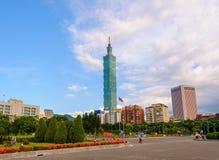 Skyline von Taipeh-Stadt, Taiwan Lizenzfreie Stockfotos