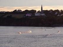 Skyline von Tramore, Irland Lizenzfreies Stockfoto