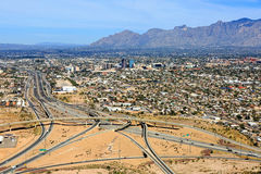 Skyline von Tucson, Arizona stockfotografie