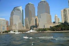 Skyline von untererem Manhattan Stockbild