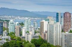 Skyline von Vancouver, Britisch-Columbia Stockbild
