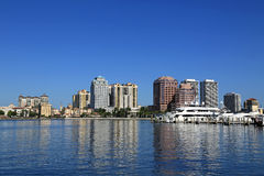 Skyline von West Palm Beach Stockfoto