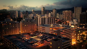 Skyline Waikiki, Hawaii stock video