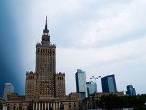 Skyline of Warsaw, Poland Stock Photography
