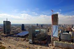 Skyline of  Warsaw, Poland Royalty Free Stock Image
