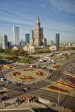 Skyline of Warsaw Poland Stock Images
