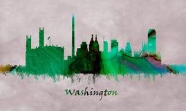 Washington USA, skyline vector illustration