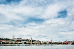 Skyline of waterfront in Budapest, Hungary, travel destination Stock Image