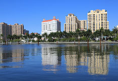Skyline of West Palm Beach Royalty Free Stock Photos