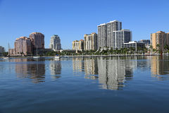 Skyline of West Palm Beach Royalty Free Stock Images