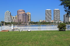 Skyline of West Palm Beach Royalty Free Stock Photo