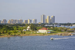 Skyline, West Palm Beach, Florida, EUA Imagem de Stock