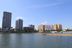 Skyline in West Palm Beach Stock Image