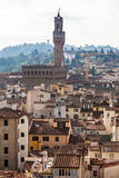 Skyline withf Palazzo Vecchio in Florence Stock Images