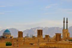 SKYLINE IN YAZD. BADGIRS OF YAZD Royalty Free Stock Photo