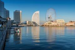 Skyline of Yokohama Cityscape, Japan at Minato Mirai 21 Area Stock Photography