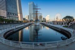 Skyline of Yokohama Cityscape, Japan at Minato Mirai 21 Area Stock Photo