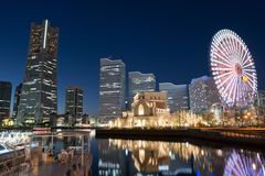 Skyline of Yokohama Royalty Free Stock Photo