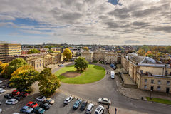 Skyline York city UK. View of York city from top of cliffords tower Stock Photo