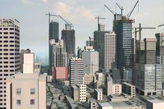 Skylineabbildung Stockbild