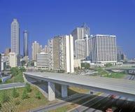 Skylineansicht der Landeshauptstadt von Atlanta, Georgia Stockbild