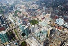 Skylineansicht von Toronto, Ontario, Kanada stockbilder