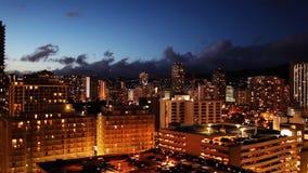 Skylinec$zeit-versehen Waikiki, Hawaii stock video footage