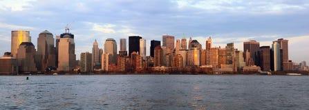 Skylinepanorama New- York Citymanhattan Stockfotos