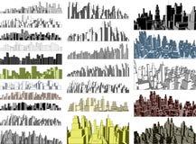 Skylines da cidade ilustração royalty free