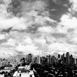 Skylines de Makati imagem de stock royalty free