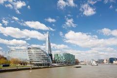 Skylines de salão de cidade de Londres Fotos de Stock