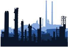 Skylines industriais (azuis) Imagens de Stock Royalty Free